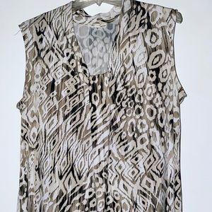 Sleeveless leopard print shirt